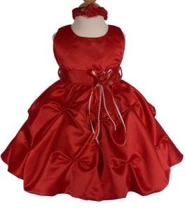 Elegant-Satin-Girl-Christening-Gown-red-front