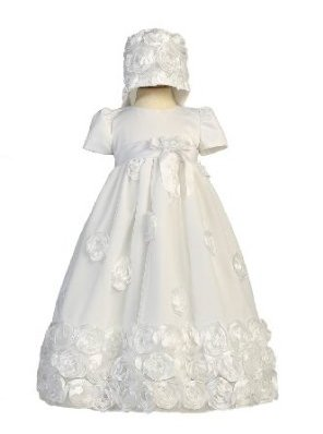 Floral Ribbon Tulle Christening Dress