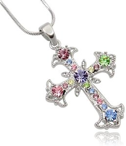 charming-crystal-cross-necklace-for-girls-side